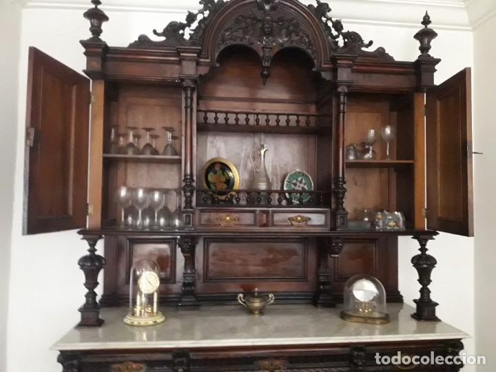 Antigüedades: APARADOR de estilo ISABELINO DE CAOBA TALLADA DE 1850-1860. - Foto 22 - 170932650