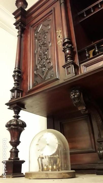 Antigüedades: APARADOR de estilo ISABELINO DE CAOBA TALLADA DE 1850-1860. - Foto 26 - 170932650