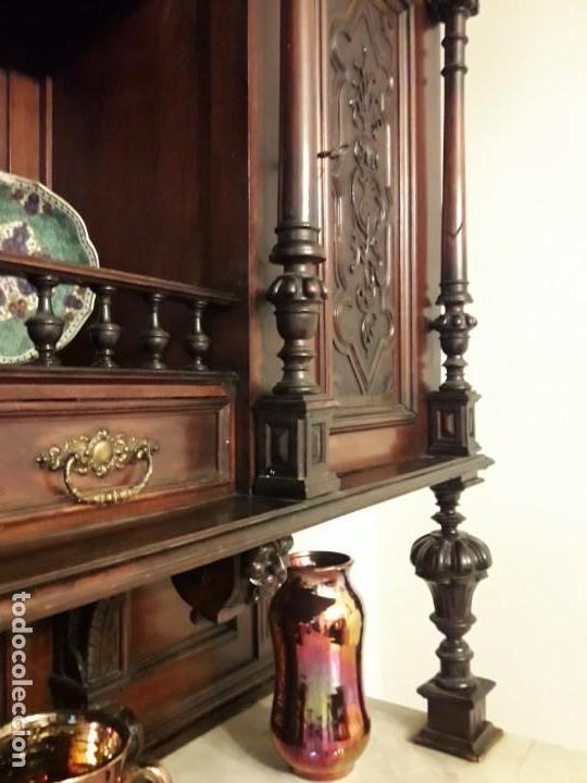 Antigüedades: APARADOR de estilo ISABELINO DE CAOBA TALLADA DE 1850-1860. - Foto 28 - 170932650