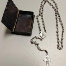 Antigüedades: CAJITA RELIGIOSA ANTIGUO SAN PEDRO CON ROSARIO - AA10. Lote 170944484