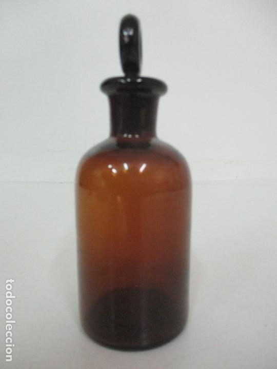 Antigüedades: Medicina - Bote de Cristal de Farmacia, Medico - con Tapón - Principios S. XX - Foto 2 - 170945105