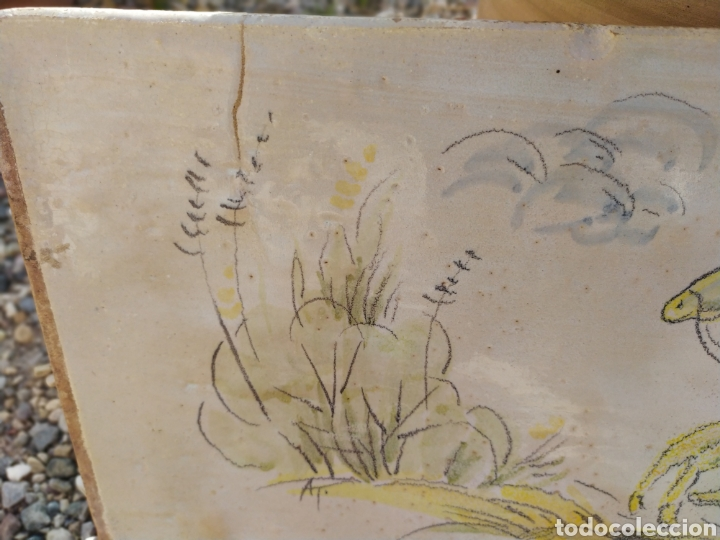 Antigüedades: Azulejo Guerrero 49,5 cm x 20 cm. - Foto 3 - 170971069
