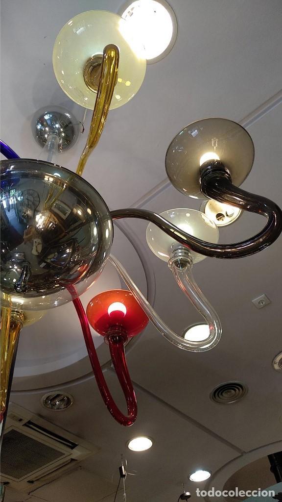 Antigüedades: Lámpara de Murano en distintos colores. Venini años 70 S. XIX - Foto 3 - 170972039