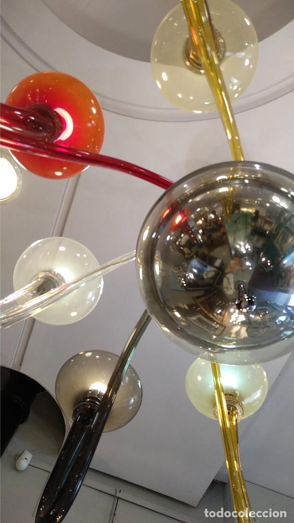 Antigüedades: Lámpara de Murano en distintos colores. Venini años 70 S. XIX - Foto 5 - 170972039