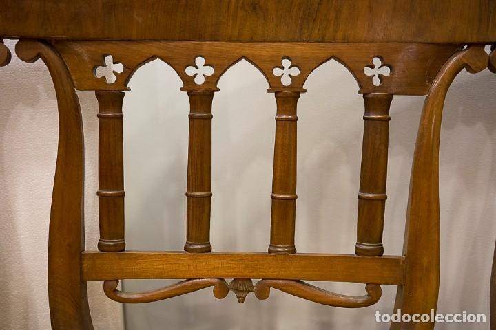 Antigüedades: Banco estilo Fernandino- 1830- madera de nogal - Foto 5 - 170973695