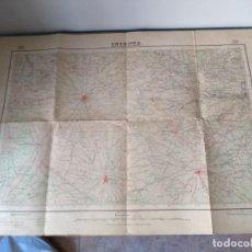 Antigüedades: ANTIGUO MAPA DE INIESTA AÑO 1958 CON SELLO. VILLARTA LEDAÑA VILLAMALEA EL HERRUMBLAR VILLALPARDO. Lote 170975634