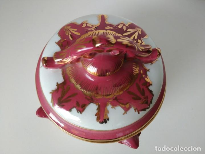 Antigüedades: Joyero de porcelana pintado a mano en oro fino - Foto 2 - 170981234