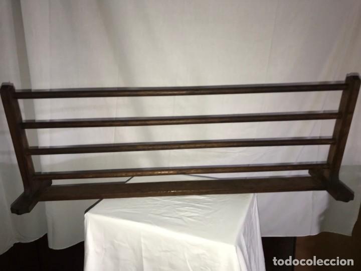 Antigüedades: Balda, repisa maletas tren??? de roble - Foto 4 - 170987222