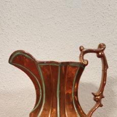 Antigüedades: JARRA EN CERÁMICA ESMALTADA CON REFLEJOS METÁLICOS - BRISTOL, INGLATERRA.SIGLO - XIX.. Lote 170988364