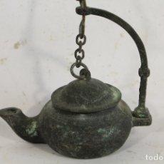 Antigüedades: LAMPARA CANDIL ANTIGUO DE BRONCE. Lote 171003203