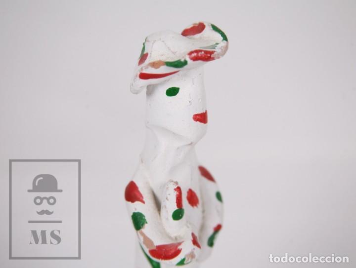 Antigüedades: Figura de Cerámica Artesanal / Siurell / Silbato de Mallorca - Payés - Altura 16,5 cm - Foto 5 - 171014578