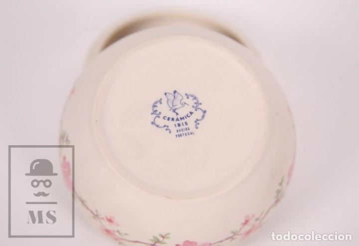 Antigüedades: Cajita de Porcelana Biscuit - Cerámica Ibis. Aveiro, Portugal - Medidas 9,5 x 9,5 x 6 cm - Foto 6 - 171015002