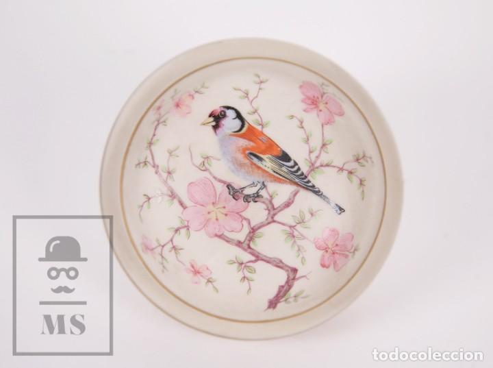 Antigüedades: Cajita de Porcelana Biscuit - Cerámica Ibis. Aveiro, Portugal - Medidas 9,5 x 9,5 x 6 cm - Foto 7 - 171015002