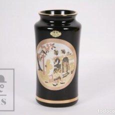 Antigüedades: JARRÓN DE PORCELANA JAPONESA - CHOKIN ART 24KT GOLD - GRABADOS METALIZADOS PLATA Y ORO. Lote 171018635