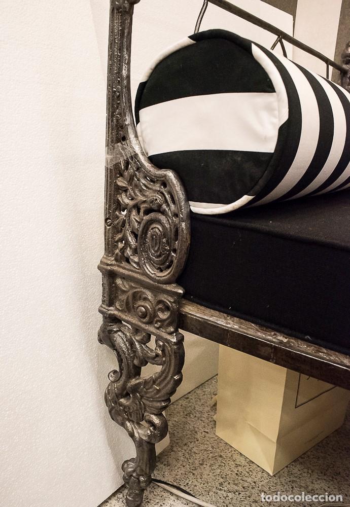 Antigüedades: Cama de Día francesa, S.XIX Napoleón III- plegable y colchón recién tapizado - Foto 2 - 171019548