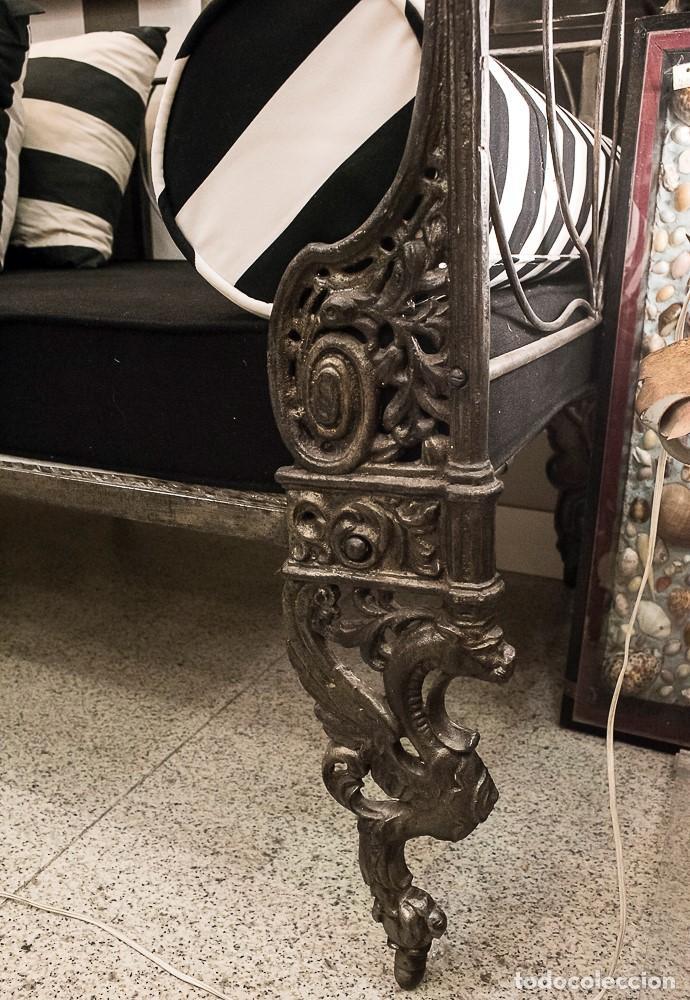 Antigüedades: Cama de Día francesa, S.XIX Napoleón III- plegable y colchón recién tapizado - Foto 7 - 171019548