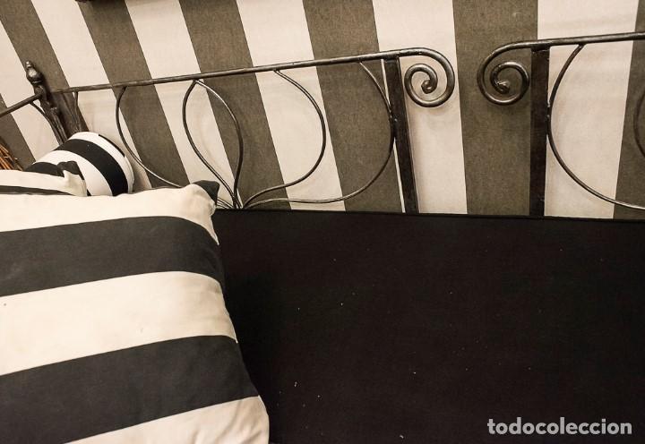 Antigüedades: Cama de Día francesa, S.XIX Napoleón III- plegable y colchón recién tapizado - Foto 10 - 171019548