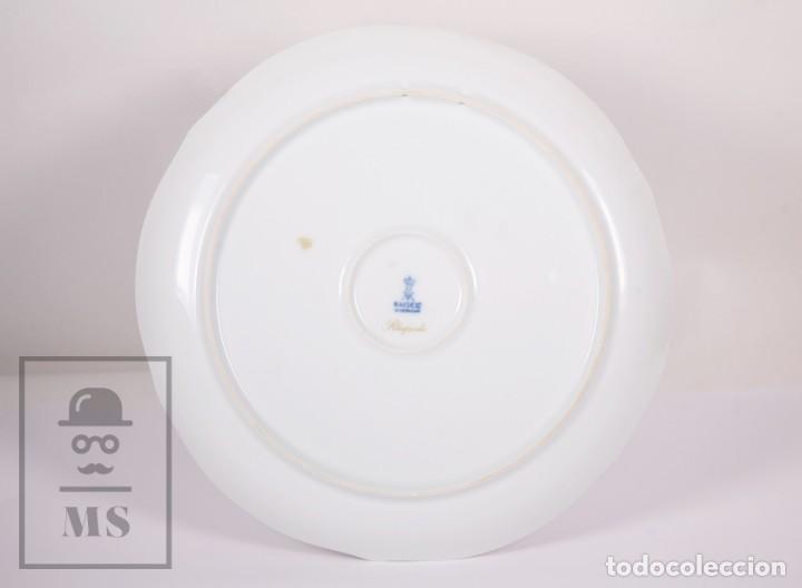 Antigüedades: Plato Decorativo de Porcelana Biscuit - Alboth Kaiser / AK - Rhapsodie - Alemania - Diám. 28 cm - Foto 7 - 171020285