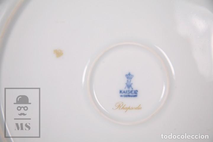 Antigüedades: Plato Decorativo de Porcelana Biscuit - Alboth Kaiser / AK - Rhapsodie - Alemania - Diám. 28 cm - Foto 8 - 171020285