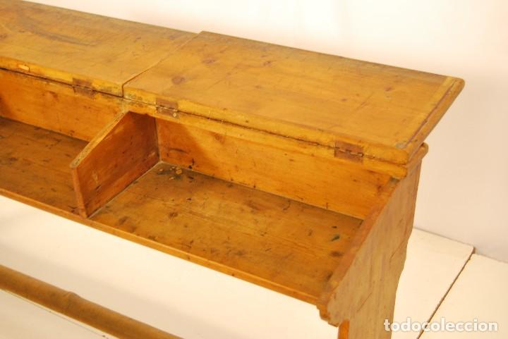 Antigüedades: Pupitre antiguo madera - Foto 2 - 171037247