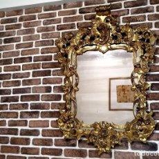 Antigüedades: ANTIGUO ESPEJO DORADO. Lote 171041455
