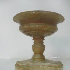 Antigüedades: JARRÓN - COPA DE MÁRMOL - CENTRO DE MESA, PEANA - NAPOLEÓN III, FRANCIA - FINALES S. XIX. Lote 171043430