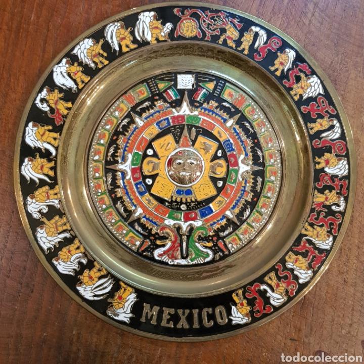Il Calendario Maya.Plaro De Laton Calendario Maya O Azteca Mexico 28 Cm