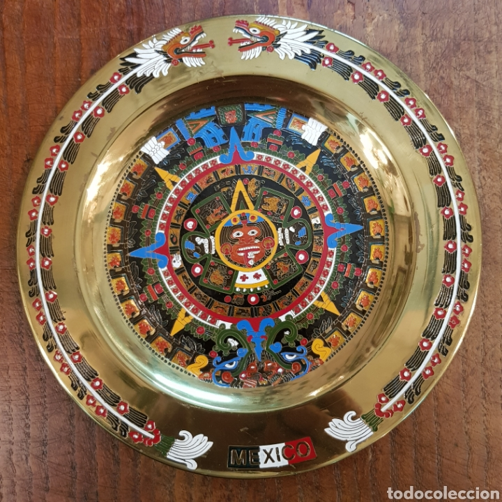 Antigüedades: PRECIOSO PLATO CON CALENDARIO AZTECA MEXICO 20 CM - Foto 5 - 171052047