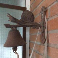 Antigüedades: ANTIGUA CAMPANA LLAMADOR. Lote 171076072