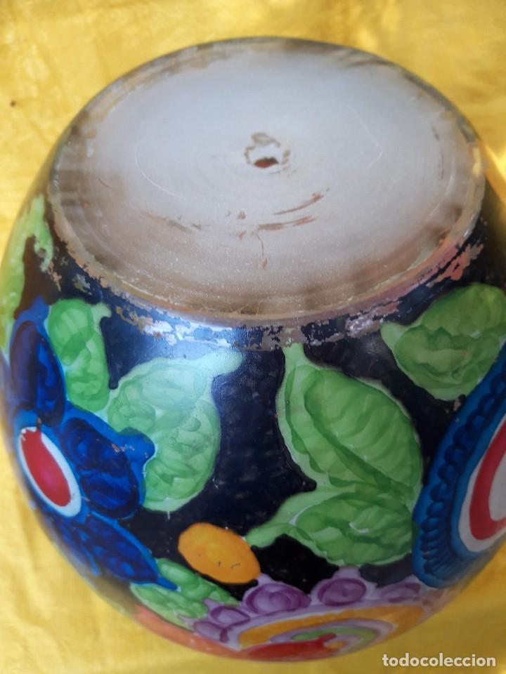 Antigüedades: jarron de Cristal pintado al fuego, hacia 1920 30 - Foto 5 - 171077179
