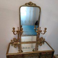 Antigüedades: ANTIGUO TOCADOR DE BRONCE. Lote 171084500