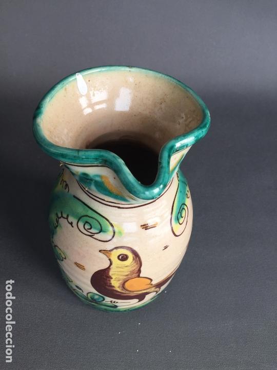Antigüedades: JARRA DE PUENTE DEL ARZOBISPO , PINTADA A MANO Y FIRMADA SAN JOSÉ - Foto 7 - 171095230