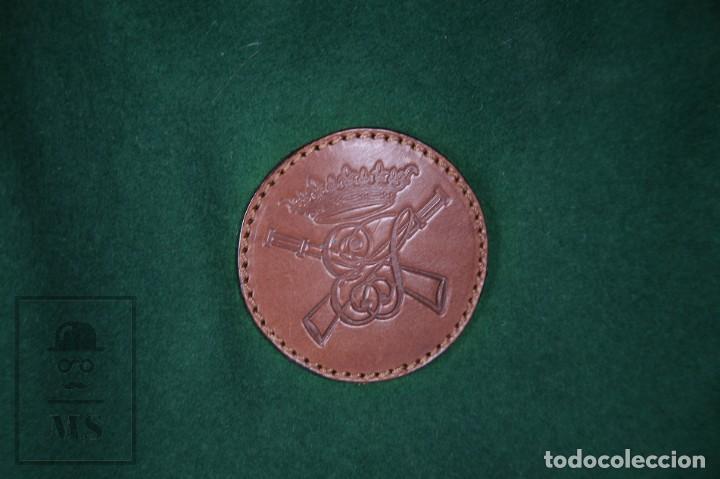 Antigüedades: Bolsa de Fieltro Caza de Perdiz - La Cañada - Pintada a Mano, Firma MC - Medidas 23 x 36 cm - Foto 6 - 171100672