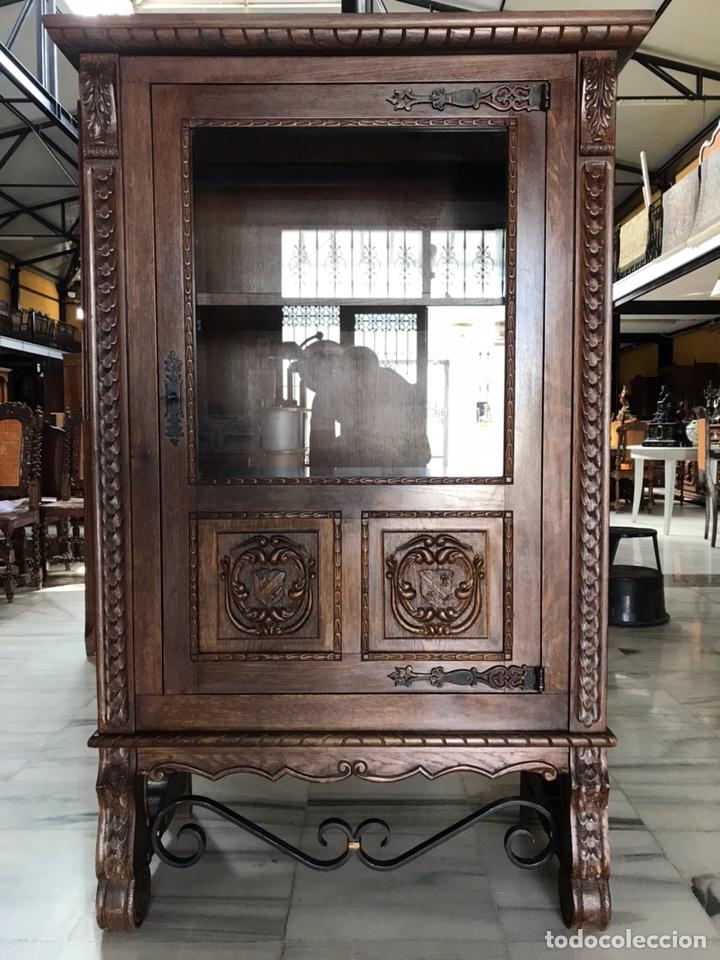 VITRINA / BIBLIOTECA CASTELLANA. R 6348 (Antigüedades - Muebles Antiguos - Vitrinas Antiguos)