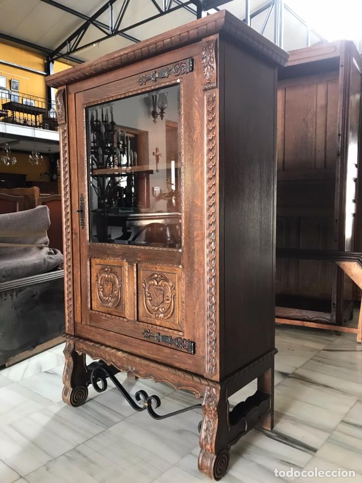 Antigüedades: Vitrina / biblioteca castellana. R 6348 - Foto 3 - 171105685