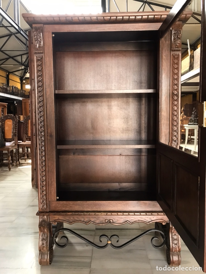 Antigüedades: Vitrina / biblioteca castellana. R 6348 - Foto 4 - 171105685