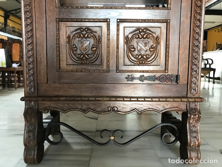 Antigüedades: Vitrina / biblioteca castellana. R 6348 - Foto 5 - 171105685