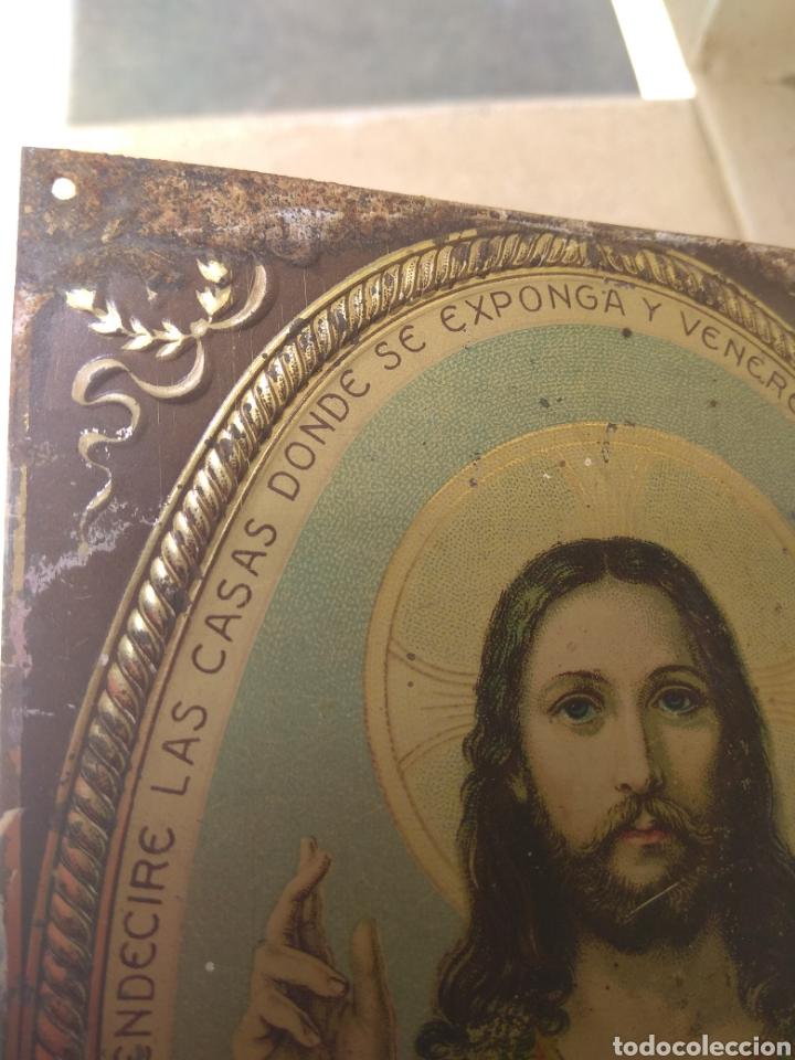 Antigüedades: Placa de Puerta Sagrado Corazón de Jesús - Foto 6 - 132498653