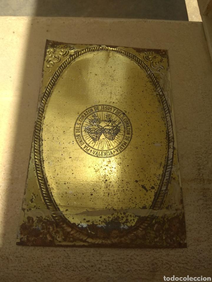 Antigüedades: Placa de Puerta Sagrado Corazón de Jesús - Foto 8 - 132498653