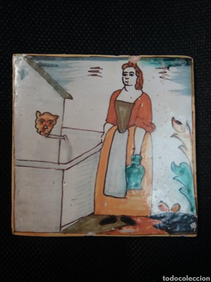 AZULEJO CATALAN DE ARTES Y OFICIOS (Antigüedades - Porcelanas y Cerámicas - Azulejos)