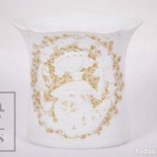 Antigüedades: CANDELERO DE PORCELANA BISCUIT - ALBOTH KAISER / AK - RHAPSODIE - ALEMANIA - MEDIDAS 10 X 8 X 10 CM. Lote 171119824