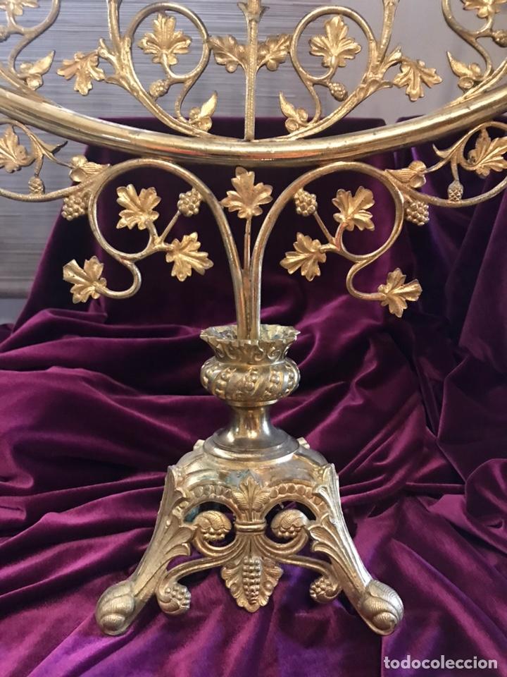 Antigüedades: Candelabro de bronce dorado - Foto 7 - 171122437
