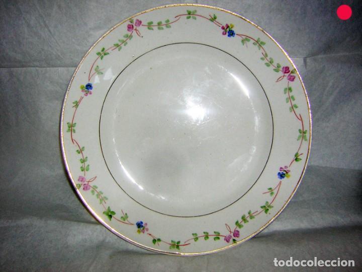 PLATO DE POSTRE LOZA DE LA ASTURIANA, POLA GIJON (Antigüedades - Porcelanas y Cerámicas - San Claudio)
