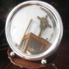 Antigüedades: GRAN ESPEJO SOBREMESA TOCADOR ART DECCO . PLATA 916 . 1920 A. . Lote 171145980