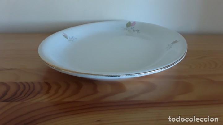 Antigüedades: Fuente ovalada cerámica La Cartuja Pickman - Foto 2 - 171148279