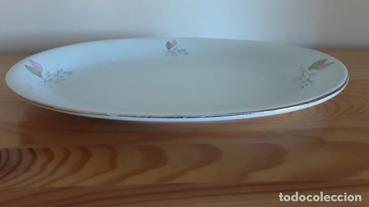 Antigüedades: Fuente ovalada cerámica La Cartuja Pickman - Foto 4 - 171148279