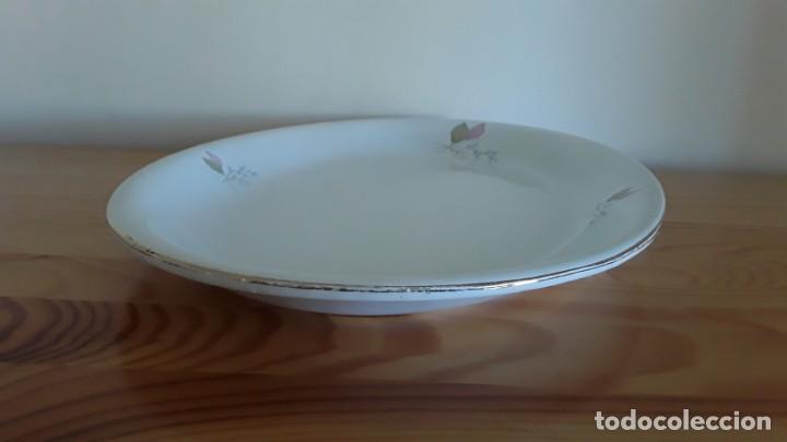 Antigüedades: Fuente ovalada cerámica La Cartuja Pickman - Foto 14 - 171148279