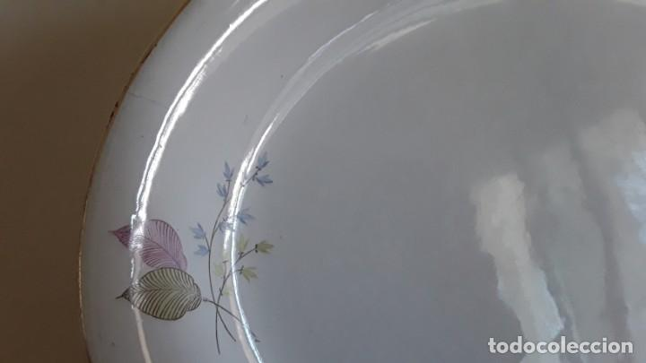 Antigüedades: Fuente ovalada cerámica La Cartuja Pickman - Foto 15 - 171148279