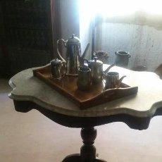 Antigüedades: MESA CON MARMOL. Lote 171153545