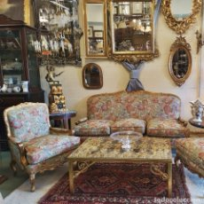 Antigüedades: TRESILLO PAN DE ORO. Lote 171157307